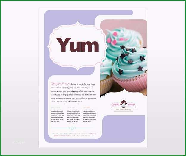 post sample flyer cake