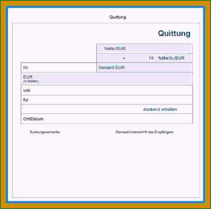 Überraschen 10 Quittungsblock Vorlage
