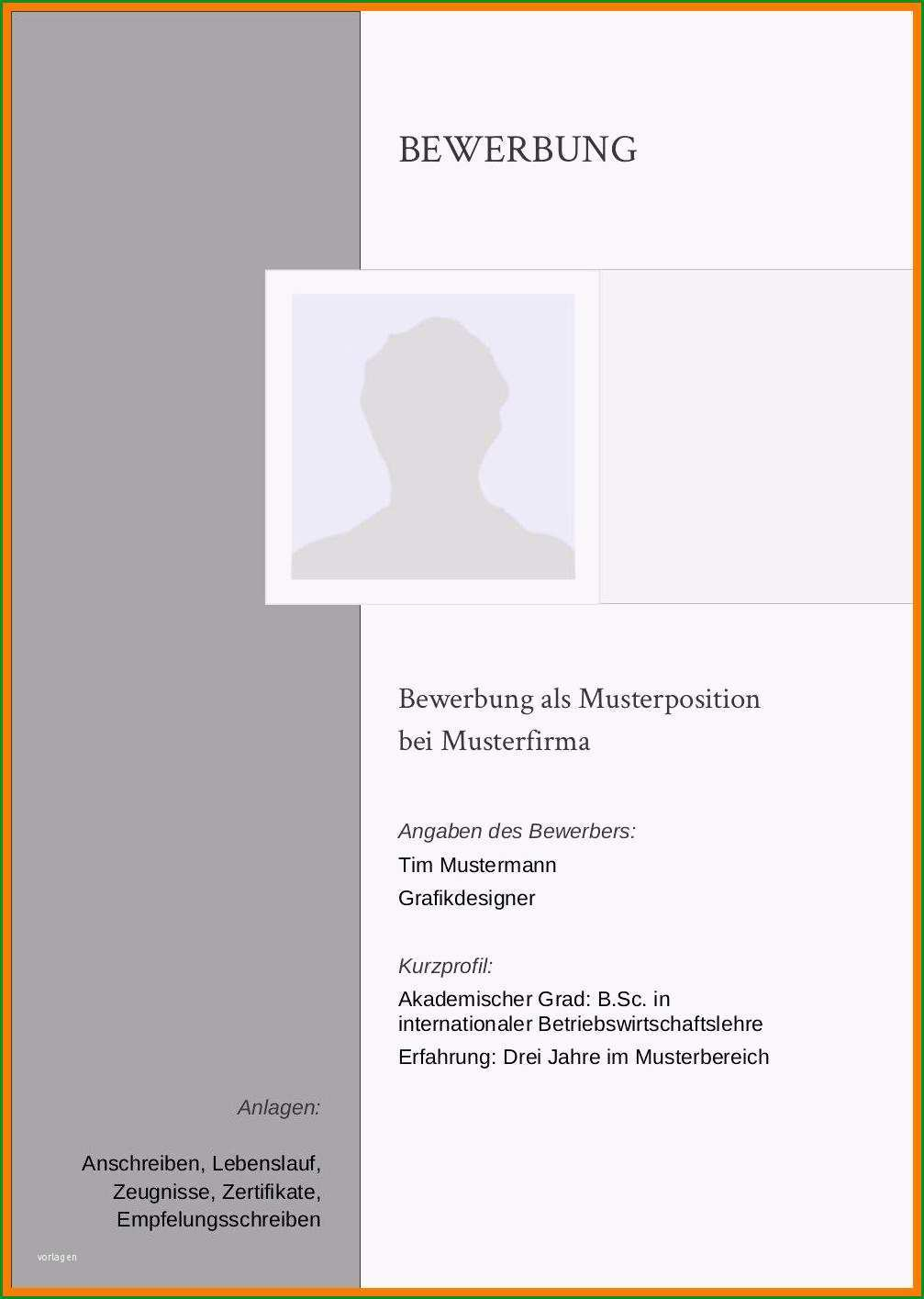 13 bewerbung deckblatt vorlage pdf