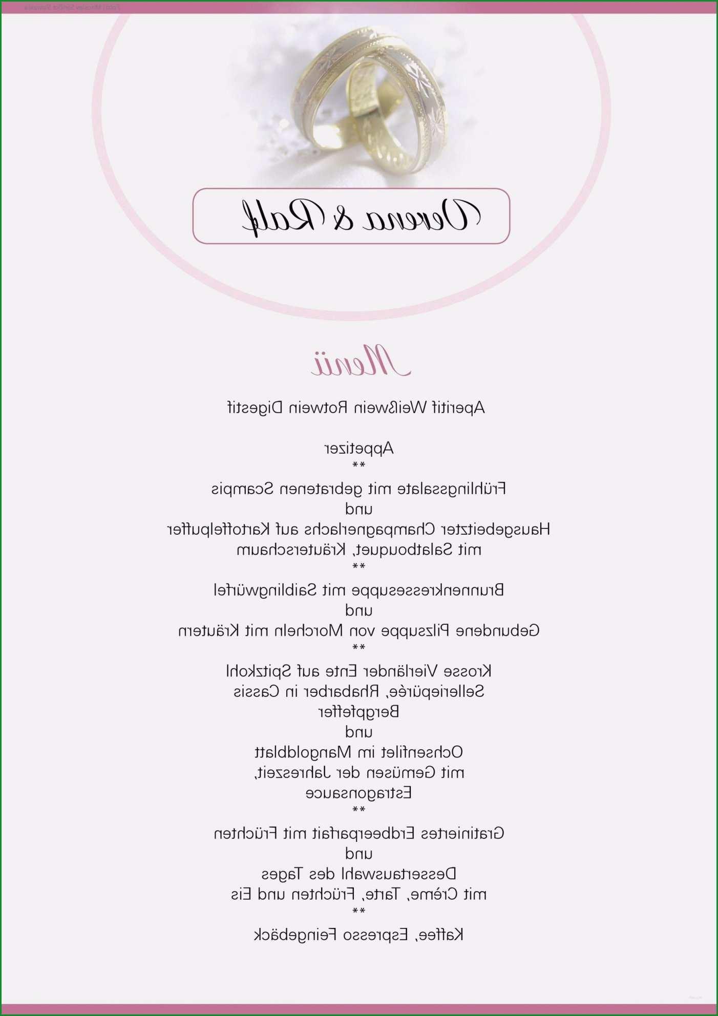 13 menukarte hochzeit vorlage word