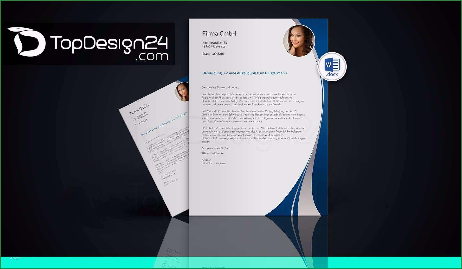 Überraschen Bewerbung Designvorlagen topdesign24 Bewerbungsvorlagen