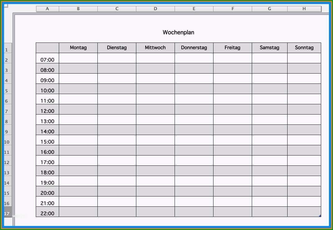 briefumschlag vorlage pdf elegant 8 vorlagen wochenplan
