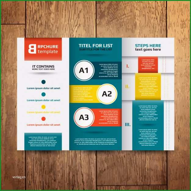 broschure design vorlage