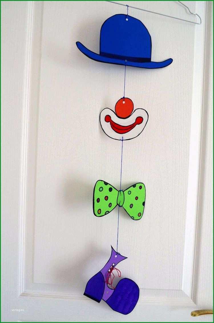 clown basteln mit kindern zu fasching vorlagen ideen und anleitungen ganzes clown basteln vorlage