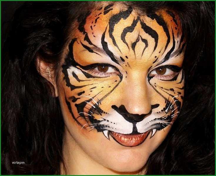 tiger schminken erwachsene
