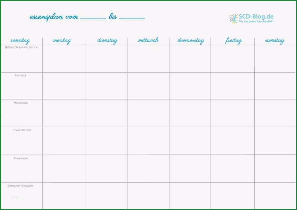 essensplan fur eine woche vorlage neu zeitmanagement und scd der essensplan scd blog