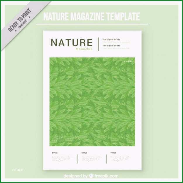 nature magazin cover vorlage