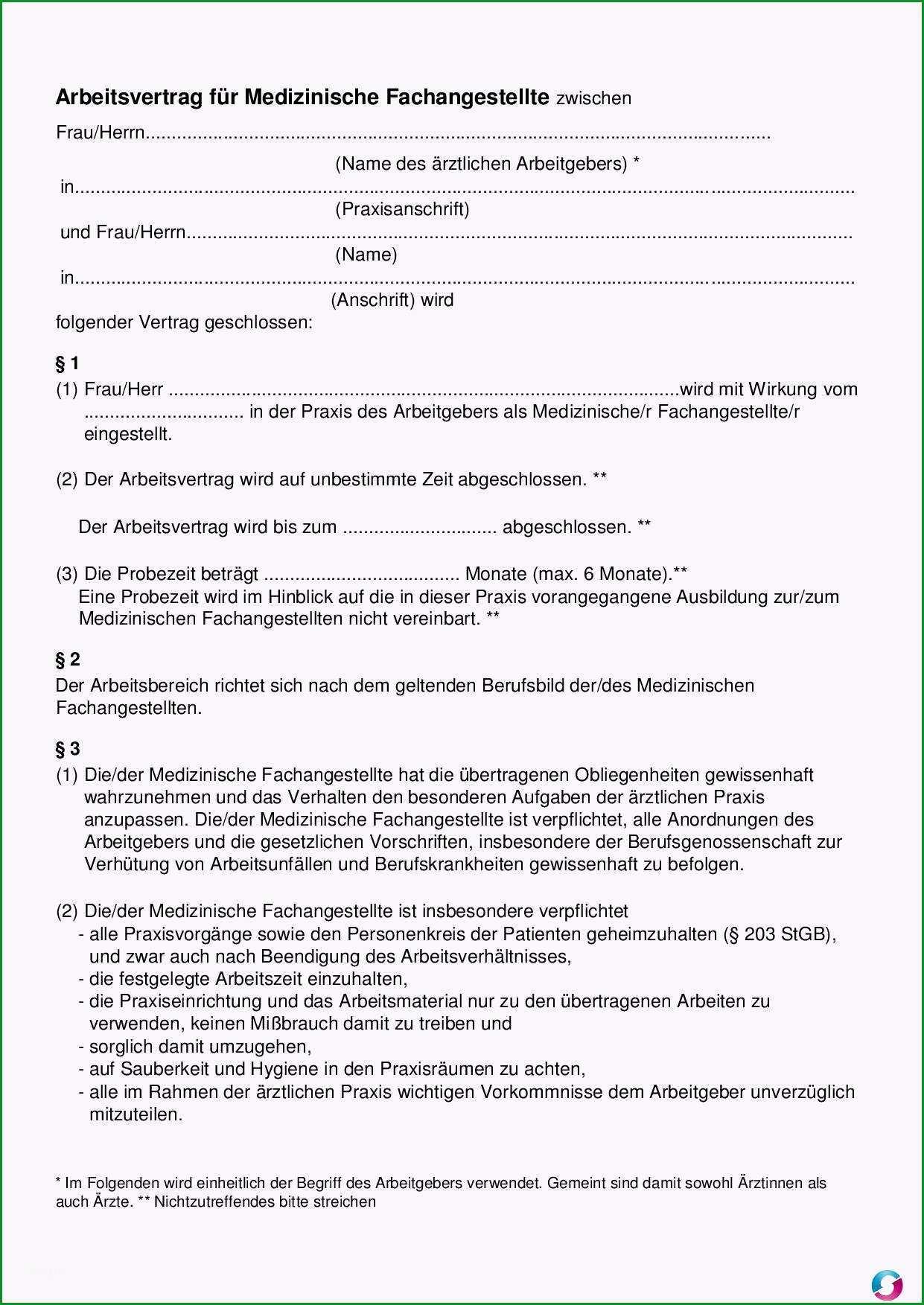 20 arbeitsvertrag vorlage kostenlos word