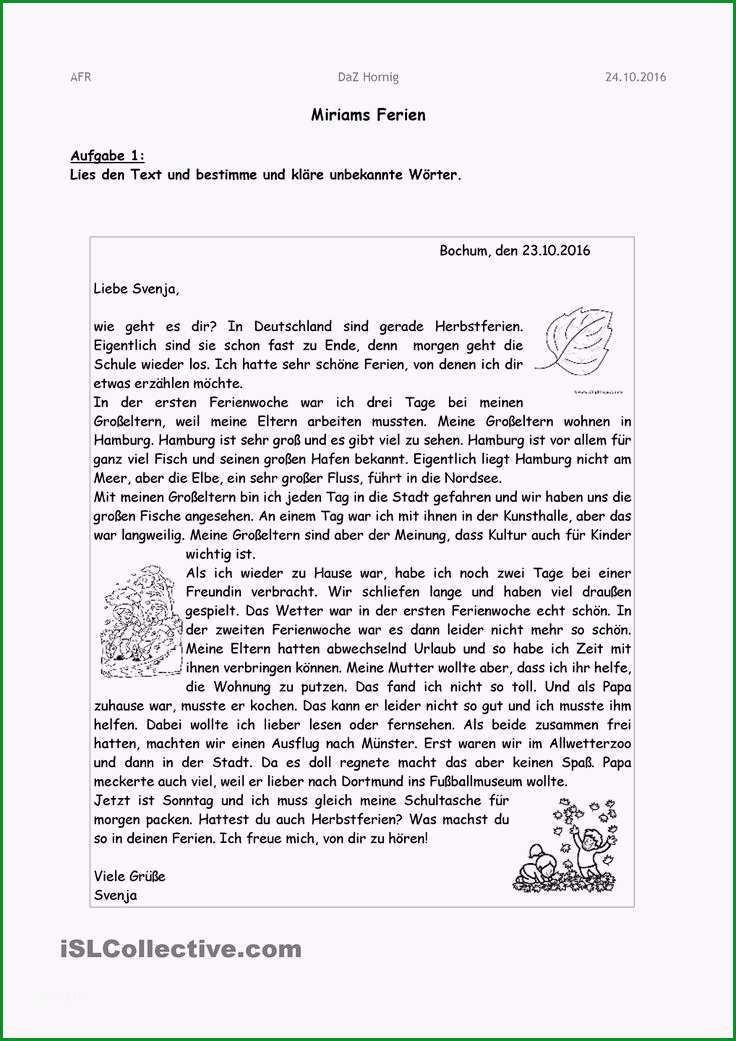 brief deutsch