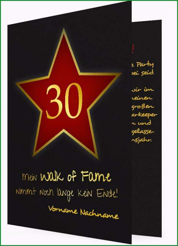 30 Geburtstag Vorlage Einladung Walk of fame 1050