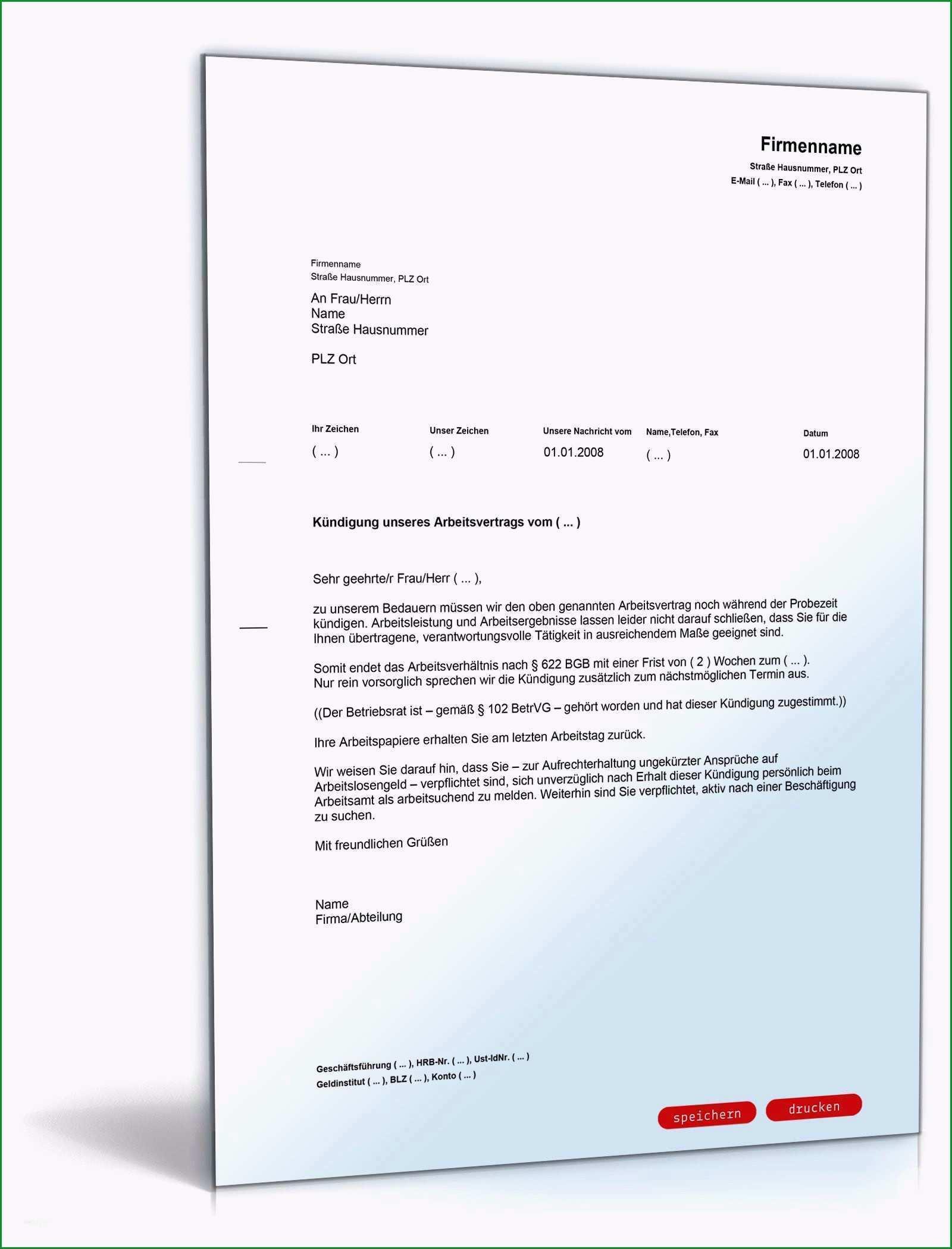 bestatigung unbefristetes arbeitsverhaltnis vorlage bewundernswert arbeitsvertrag kundigung vorlage arbeitgeber kundigung