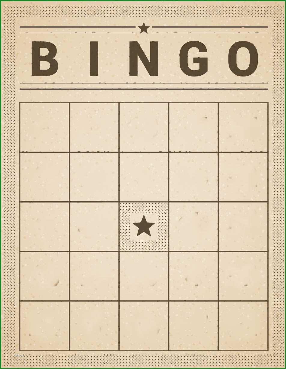 bingo vorlage