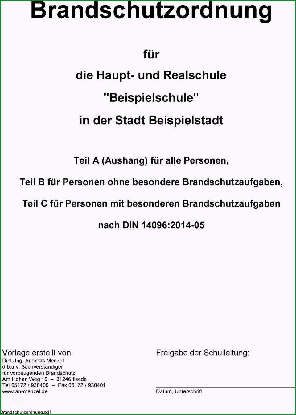 Brandschutzordnung fuer teil a aushang fuer alle personen teil b fuer personen ohne besondere brandschutzaufgaben