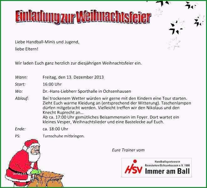 einladung zur weihnachtsfeier text