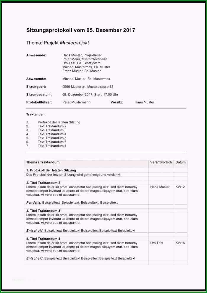 ergebnisprotokoll vorlage wunderbar protokoll vorlage word hubsch protokoll muster