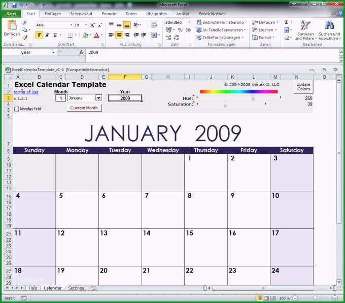 excel calendar templateftonic
