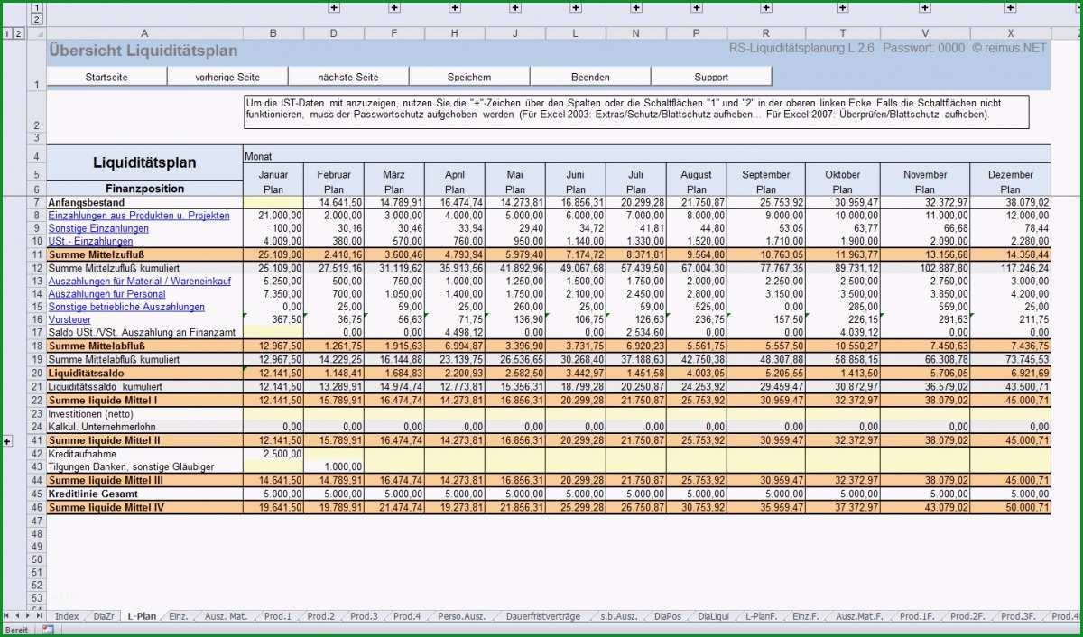 Liquiditaetsplanung Beispiel und Marktueberblick