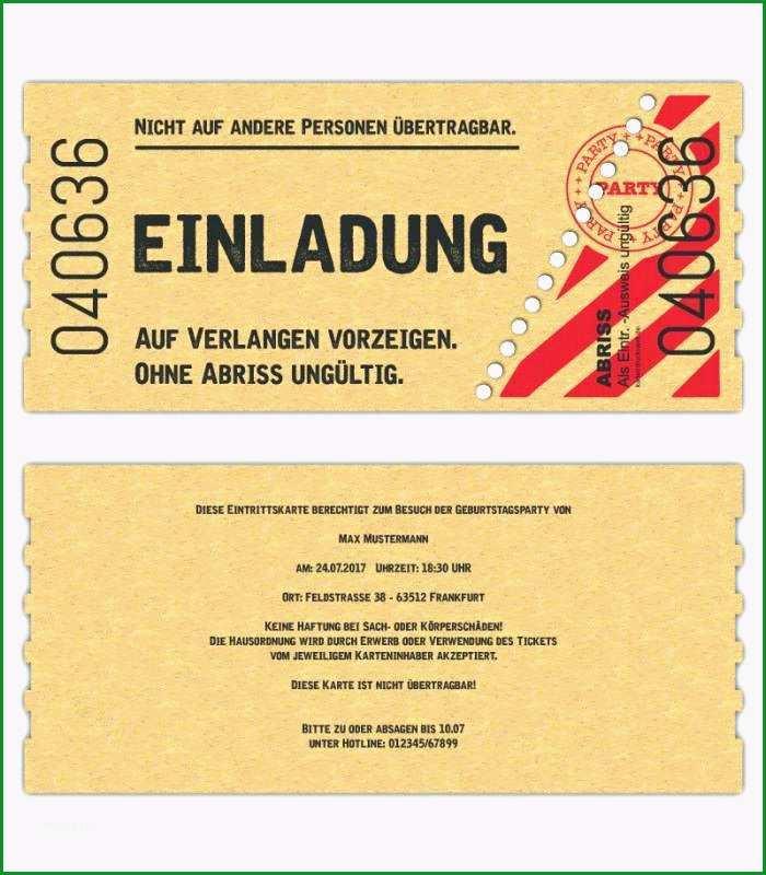 luxus vip ticket einladung vorlage kostenlos und free 75 einladung zur taufe