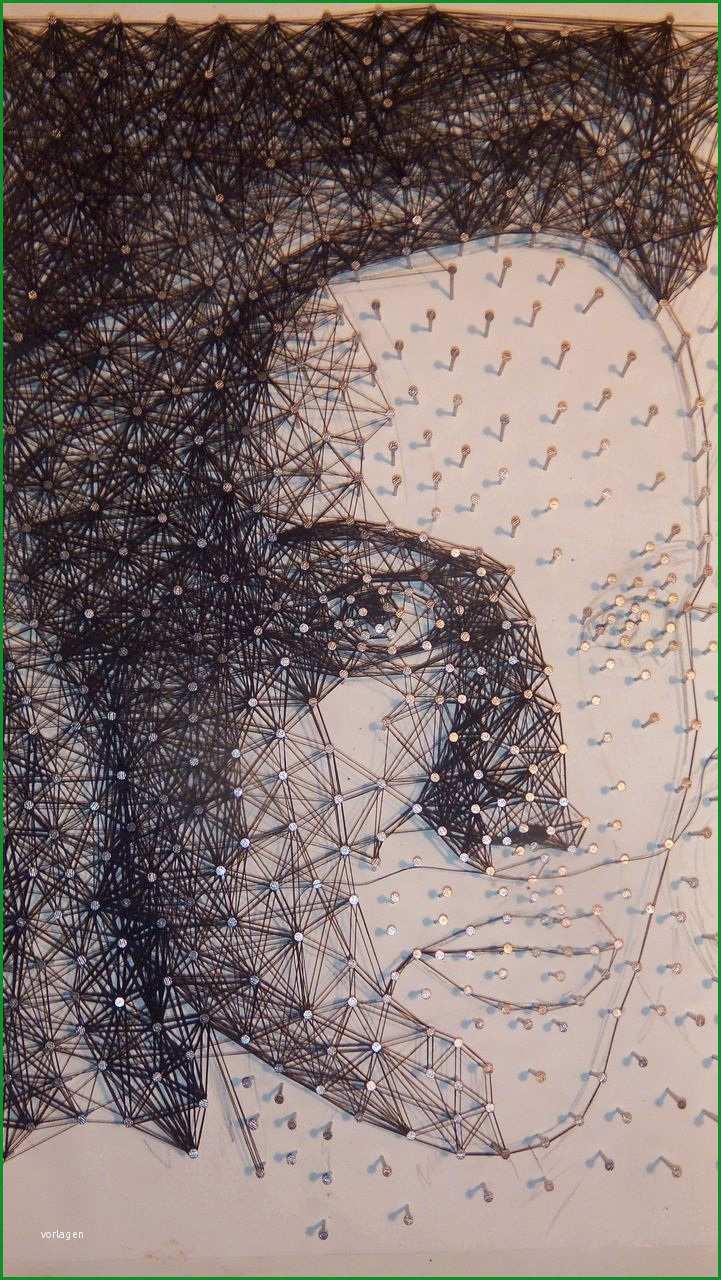 wip kunst mit nagel und faden
