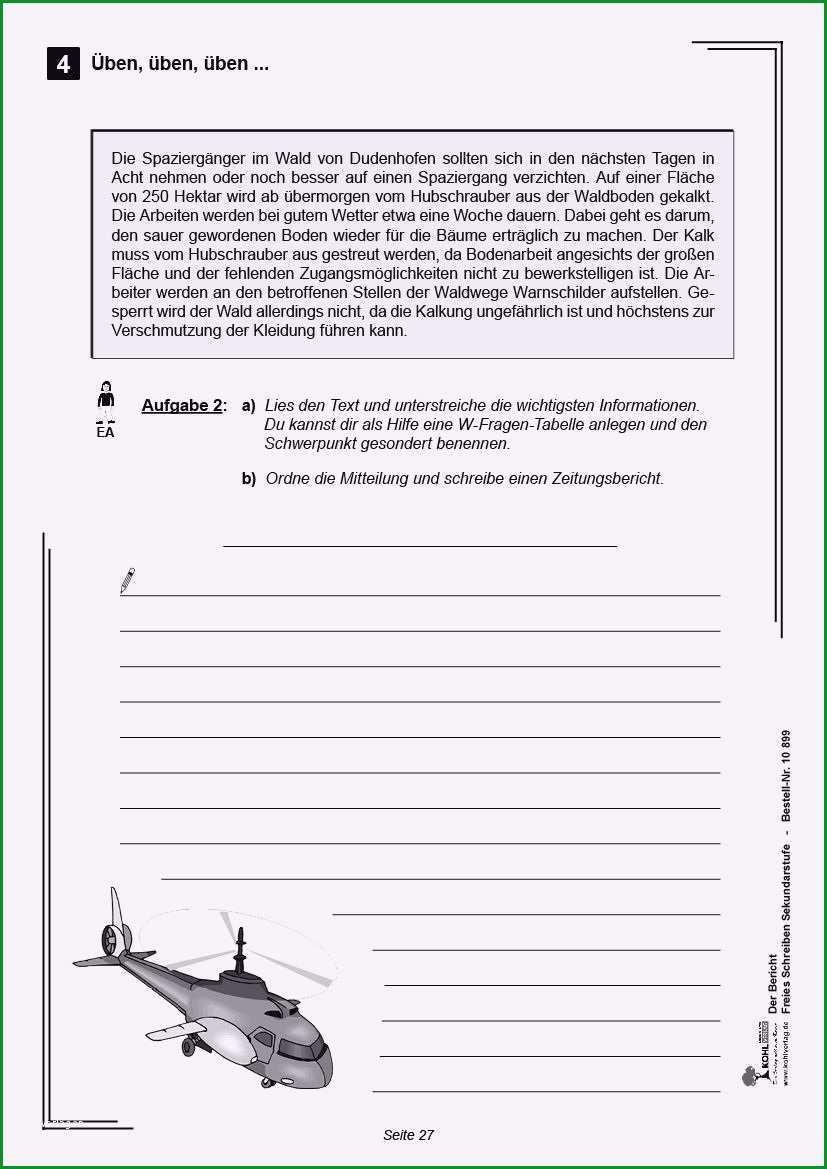 zeitungsbericht vorlage