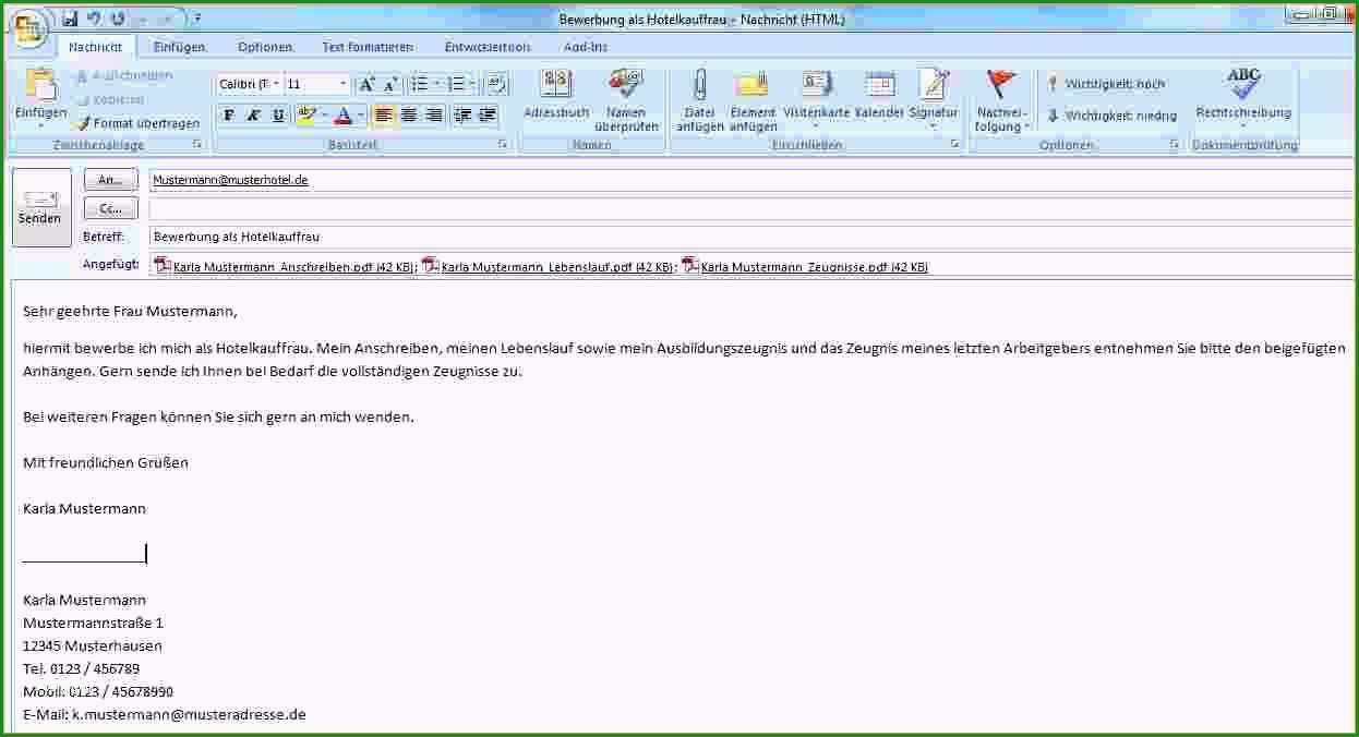17 e mail schreiben fur bewerbung