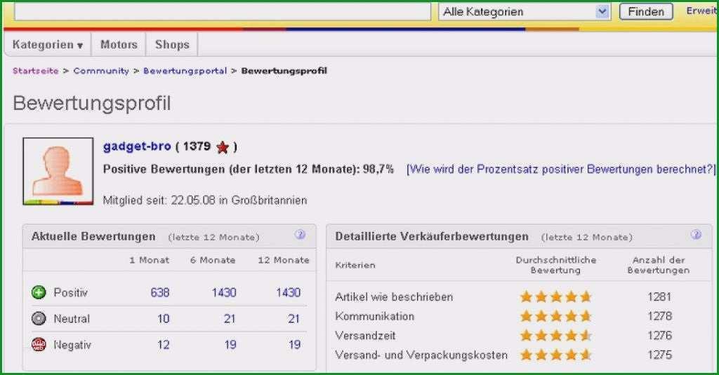 ebay bewertung vorlage