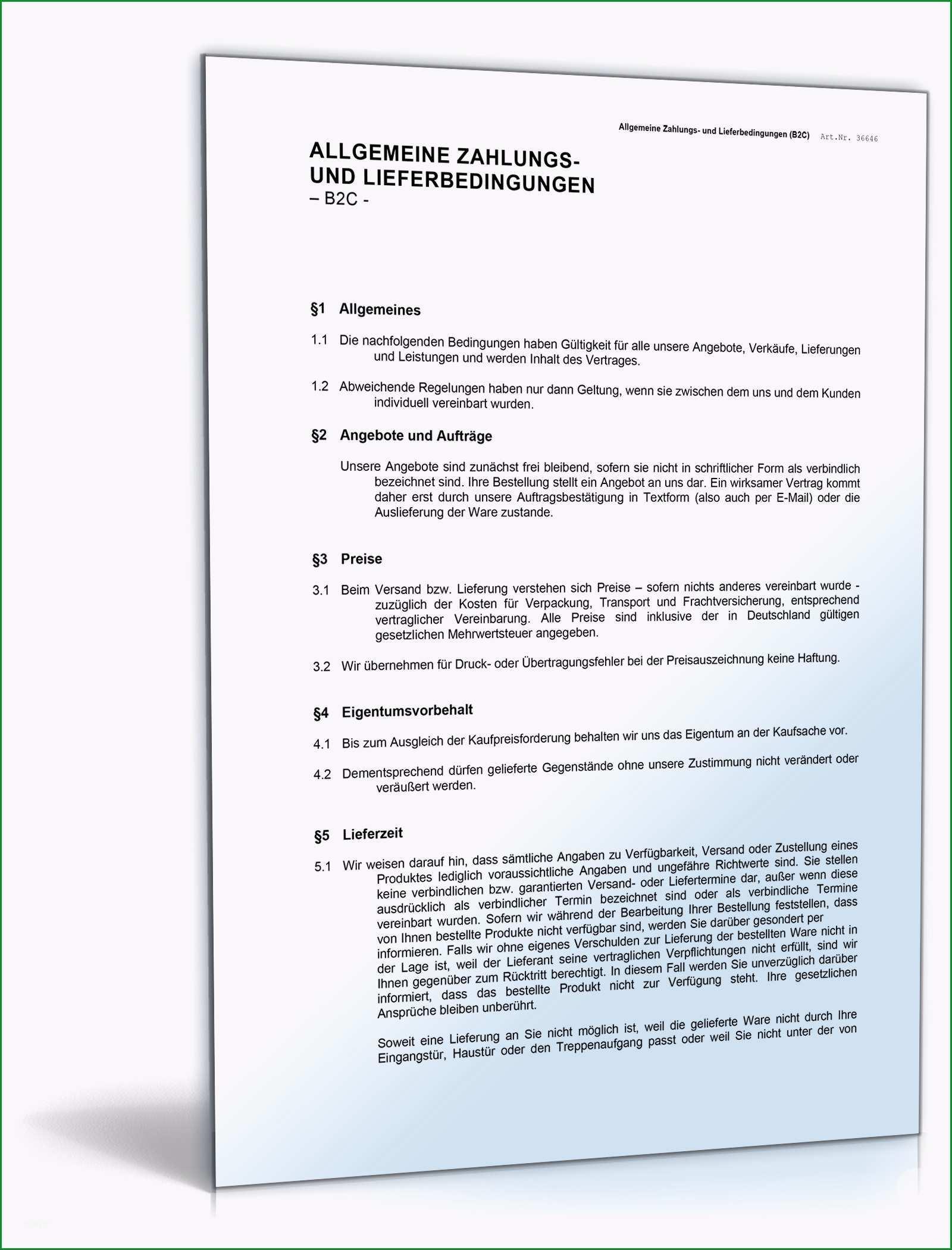de vorlagen allgemeine geschaeftsbedingungen dokumente