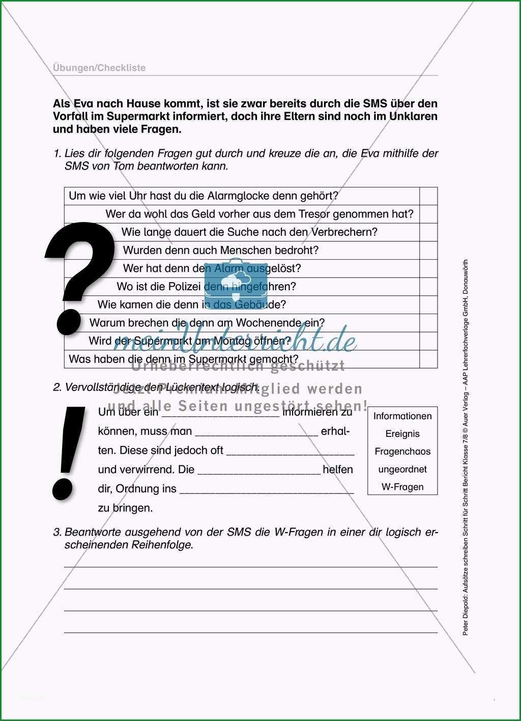 berichte schreiben klasse 7 gymnasium ubungen renza regarding schreiben lernen ubungen