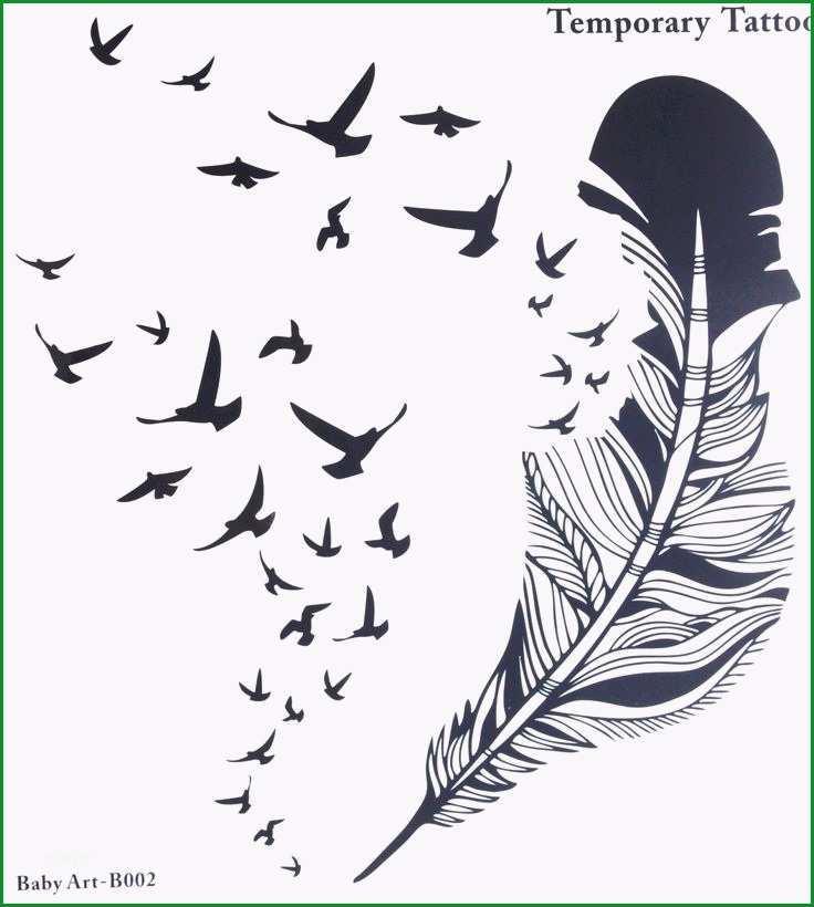 feder vogel tattoos