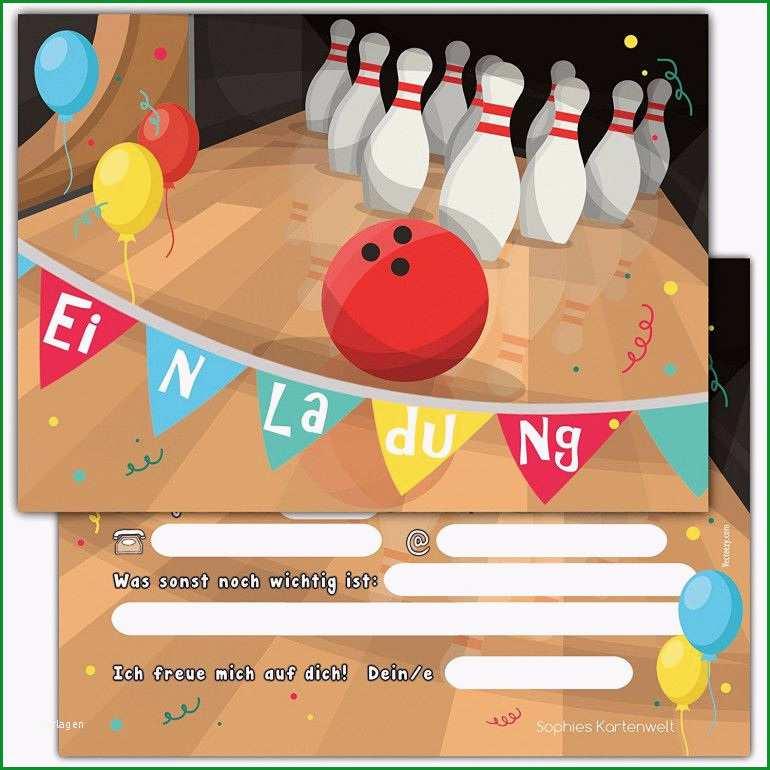 einladung kindergeburtstag bowling gratis