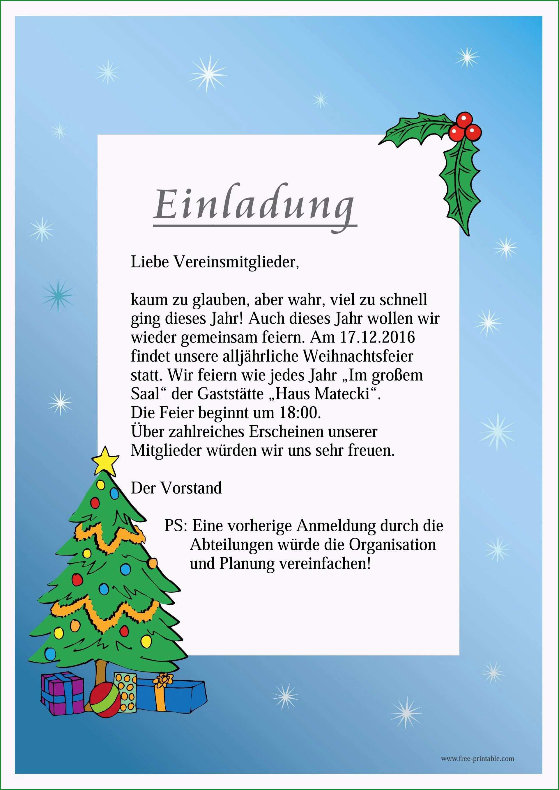 einladung weihnachtsfeier vorlage englisch