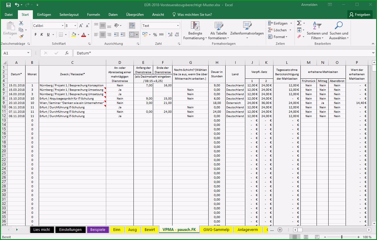 Unglaublich Excel Vorlage Einnahmenüberschussrechnung EÜr Pierre