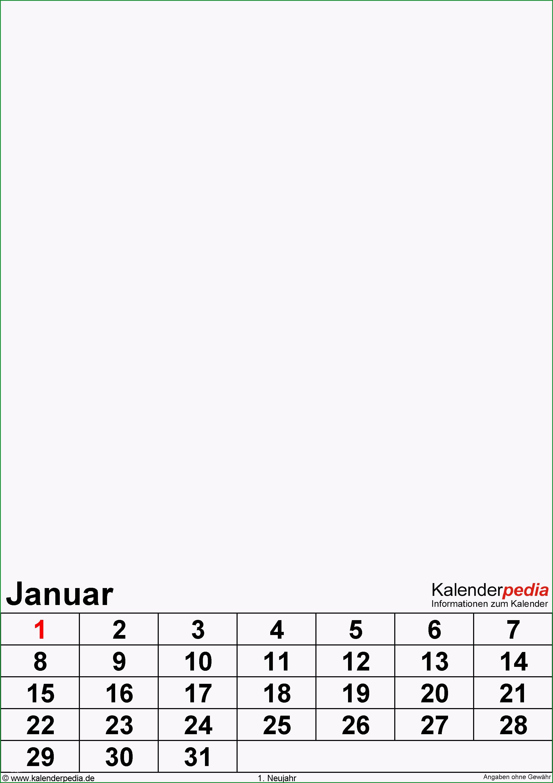fotokalender excel vorlagen