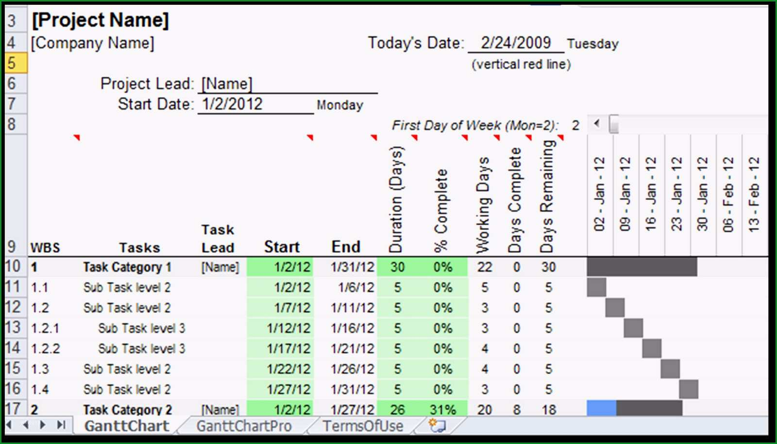 gantt chart excel vorlage excel spreadsheet gantt chart template gantt chart