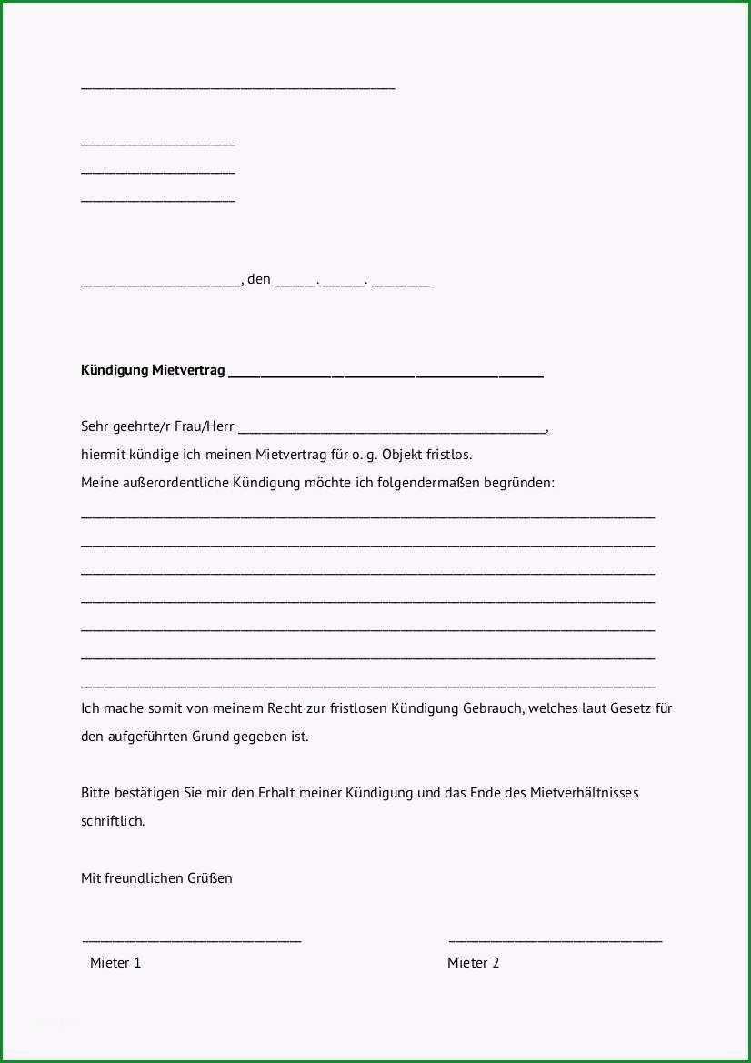 imgsearch=kündigung mietvertrag vorlage vermieter