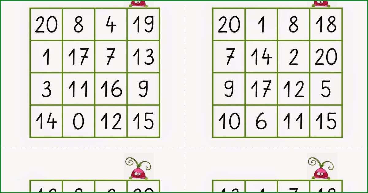 zahlen lesen bingofelder zr 20