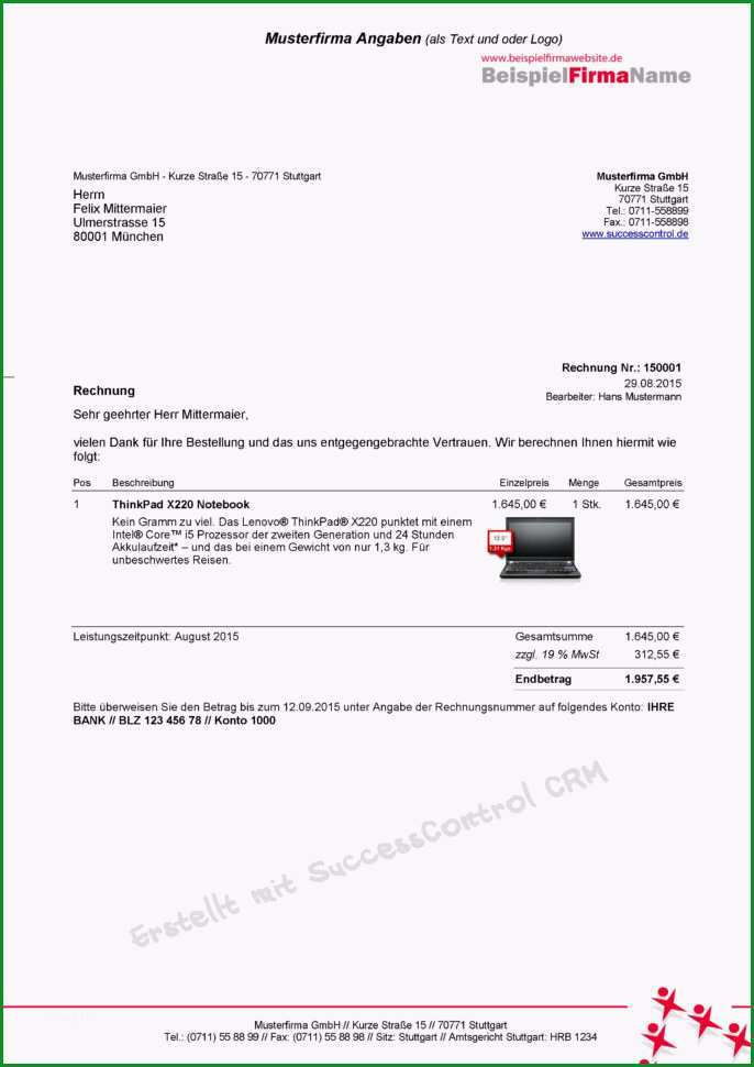 rechnungen vorlage kostenlos neu rechnungen schreiben in ms fice mit rechnung erstellen vorlage gratis