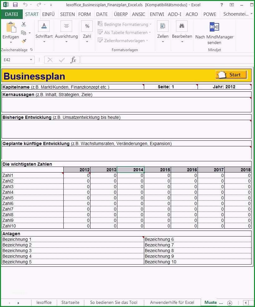 businessplan erstellen vorlage kostenlos