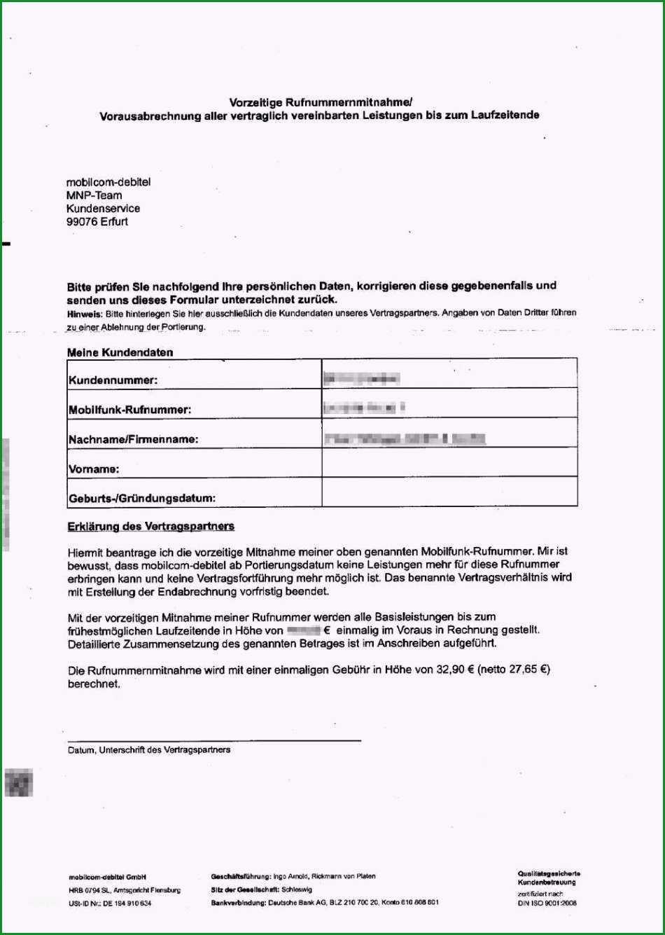 Unglaublich T Mobile Kündigung Mit Rufnummernmitnahme Vorlage Schön