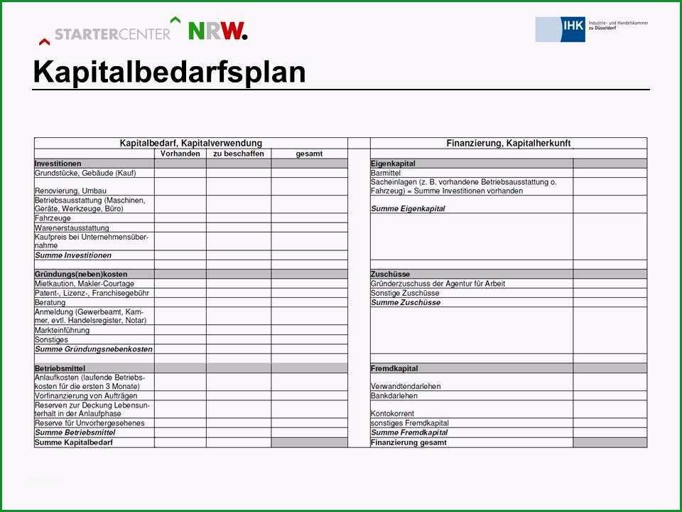 12 kapitalbedarfsplan