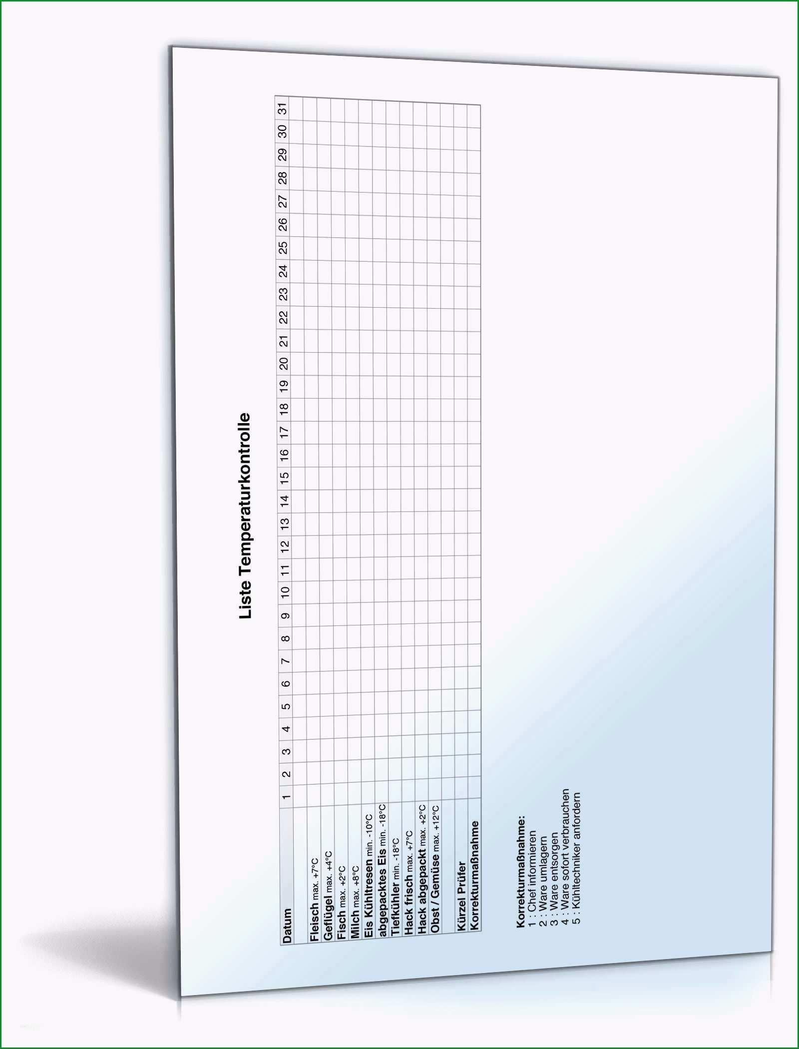 bestatigung unbefristetes arbeitsverhaltnis vorlage wunderbar liste temperaturkontrolle • de tabelle
