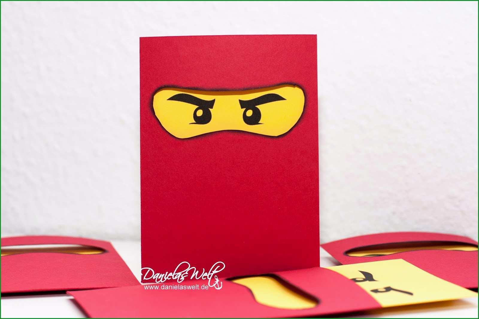 Unvergesslich Danielas Welt Ninjago Einladungskarten