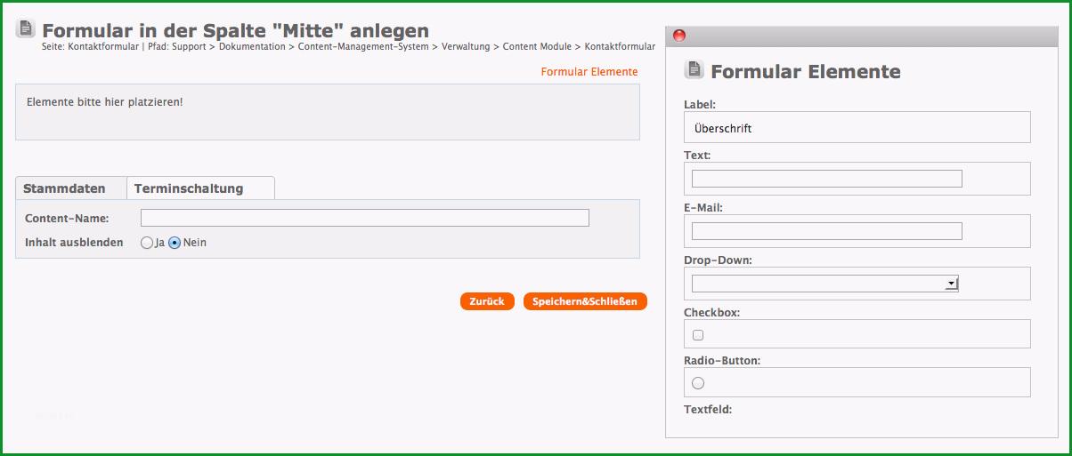 contact formular