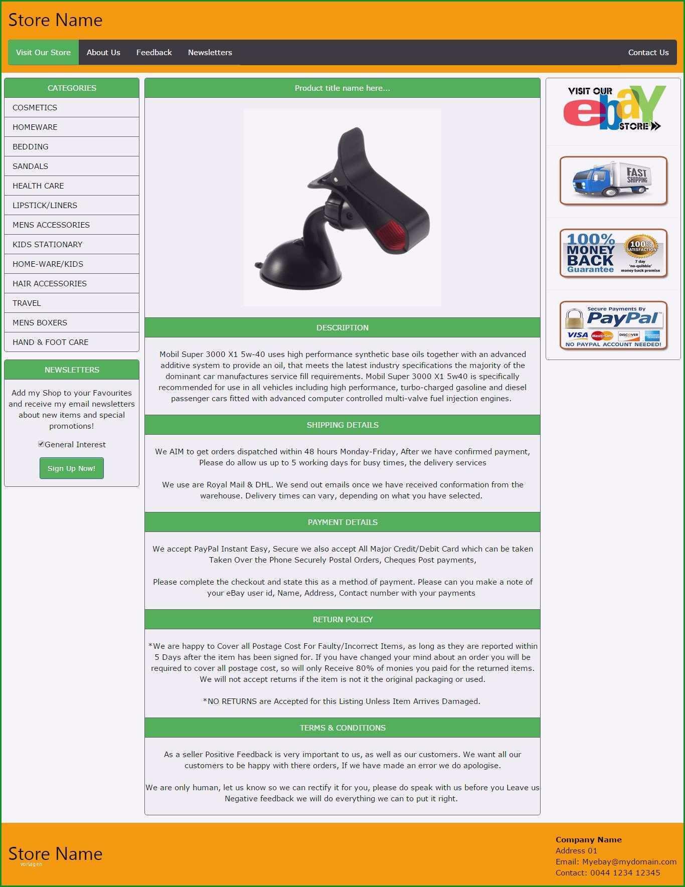 ebay vorlagen