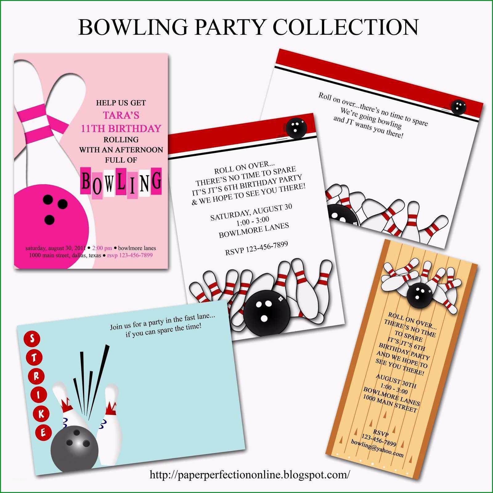 einladung bowling vorlage kostenlos