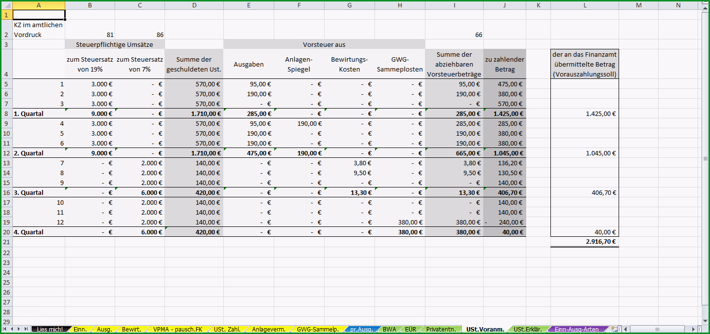 excel vorlage einnahmen ueberschuss rechnung euer 2013