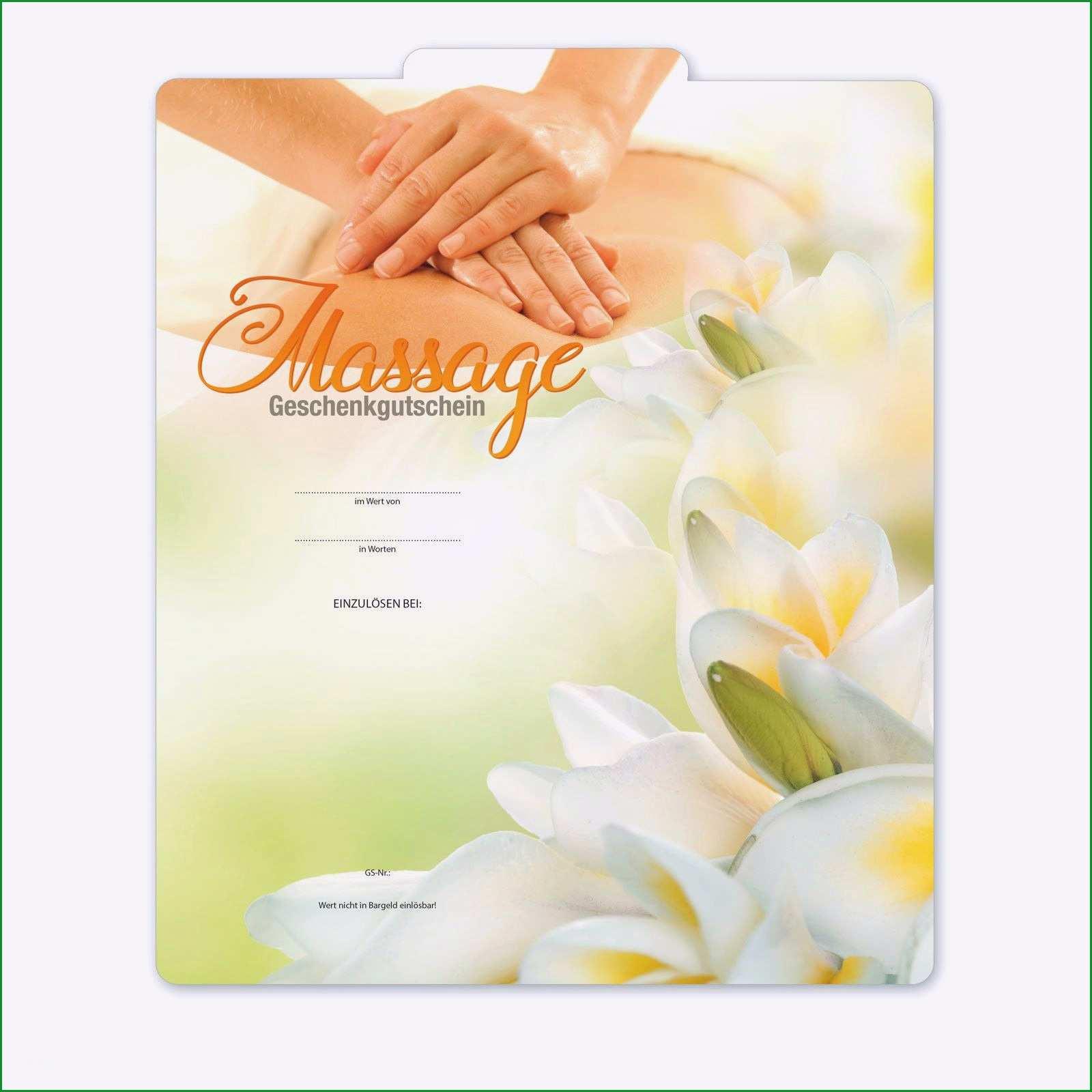 Unvergesslich Gutschein Massage Vorlage