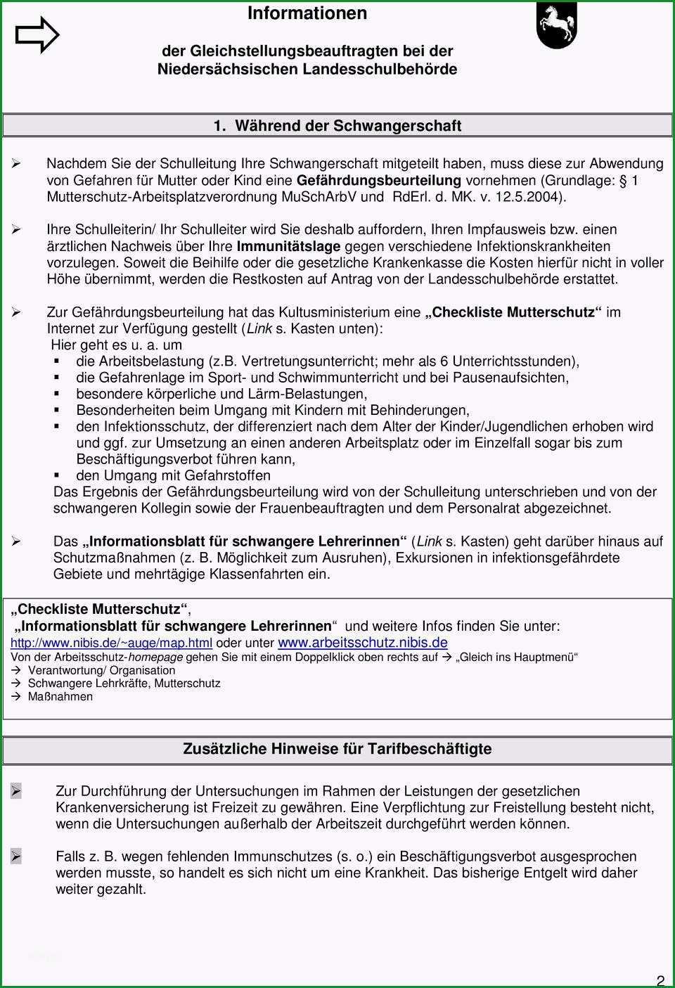 Informationen der gleichstellungsbeauftragten fuer den schulbereich niedersaechsische landesschulbehoerde postfach 35 69 osnabrueck