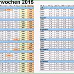 Unvergesslich Kalenderwochen 2015 Mit Vorlagen Für Excel Word & Pdf