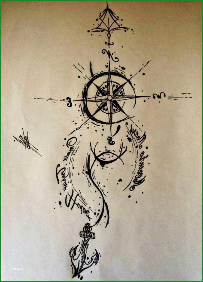kompass tattoo vorlage qj93t